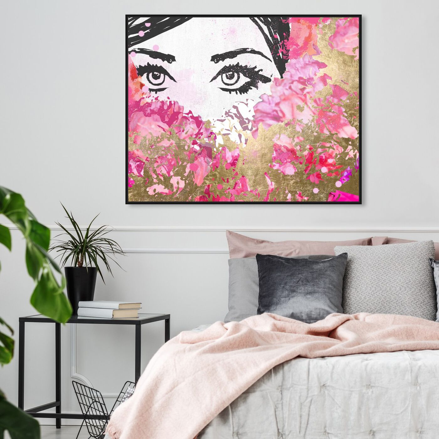 Hanging view of Smell the Flowers featuring fashion and glam and portraits art.