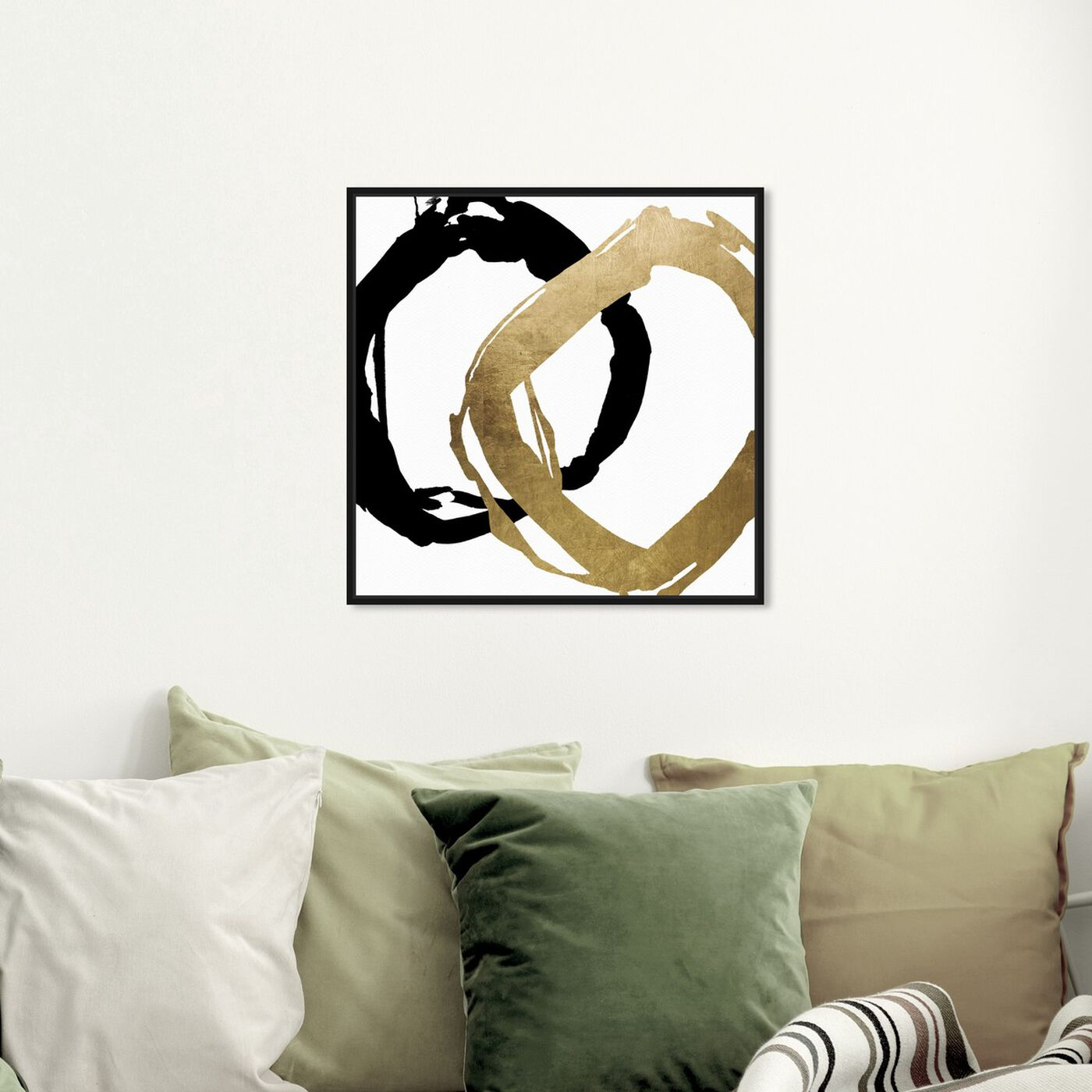Hanging view of Equal featuring abstract and shapes art.