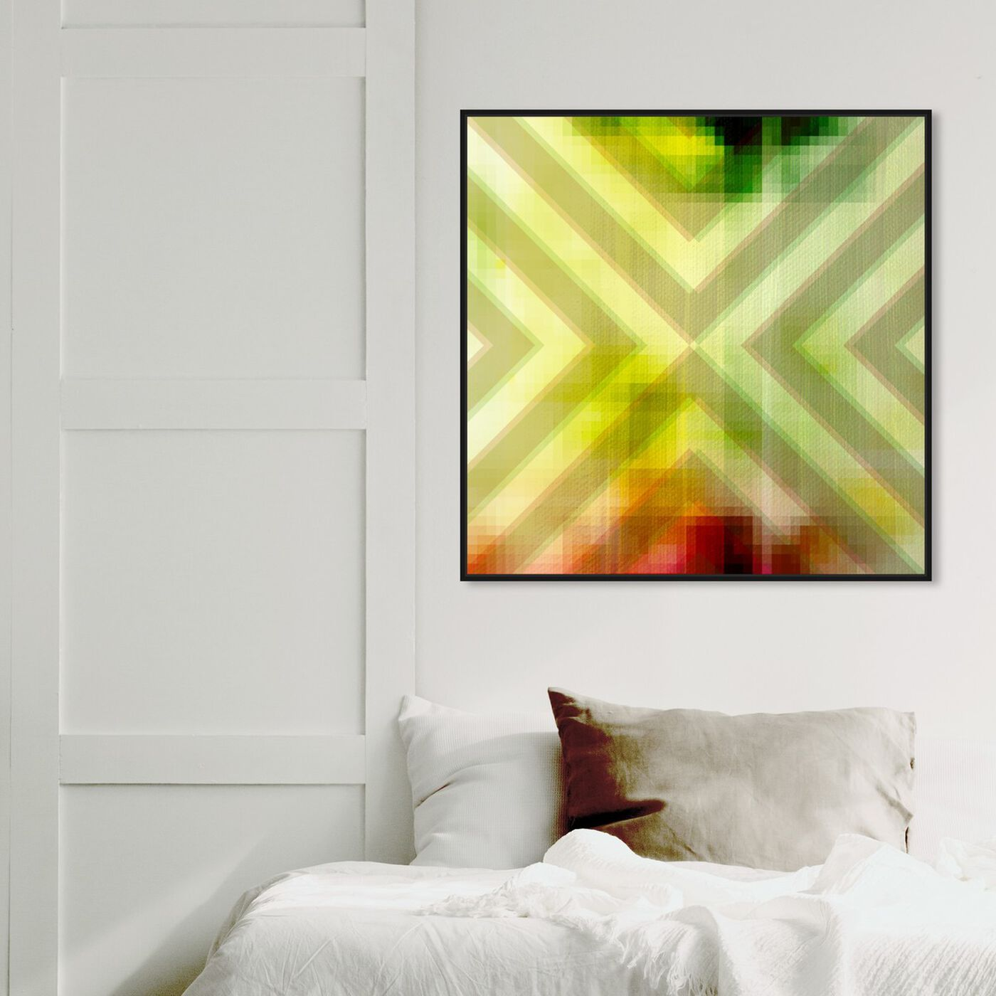 Hanging view of Around The Corner featuring abstract and geometric art.