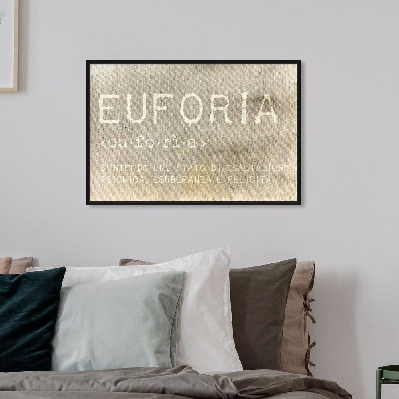 Hanging view of Euforia featuring typography and quotes and inspirational quotes and sayings art.