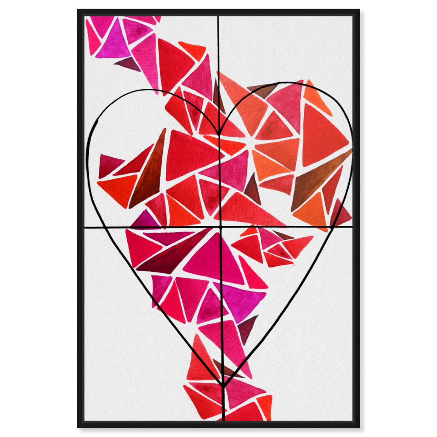 Front view of Piece of My Heart featuring abstract and geometric art.
