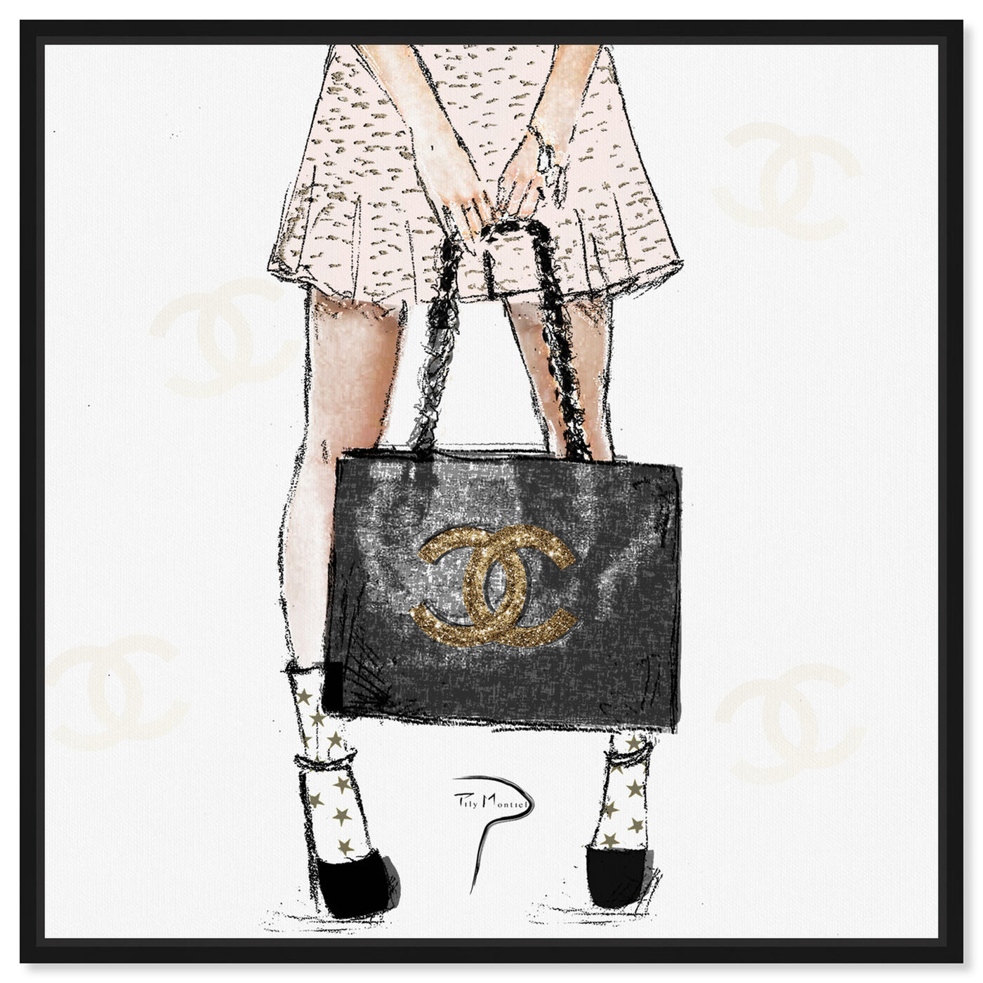 Front view of Pily Montiel - Tweed Girl featuring fashion and glam and outfits art.