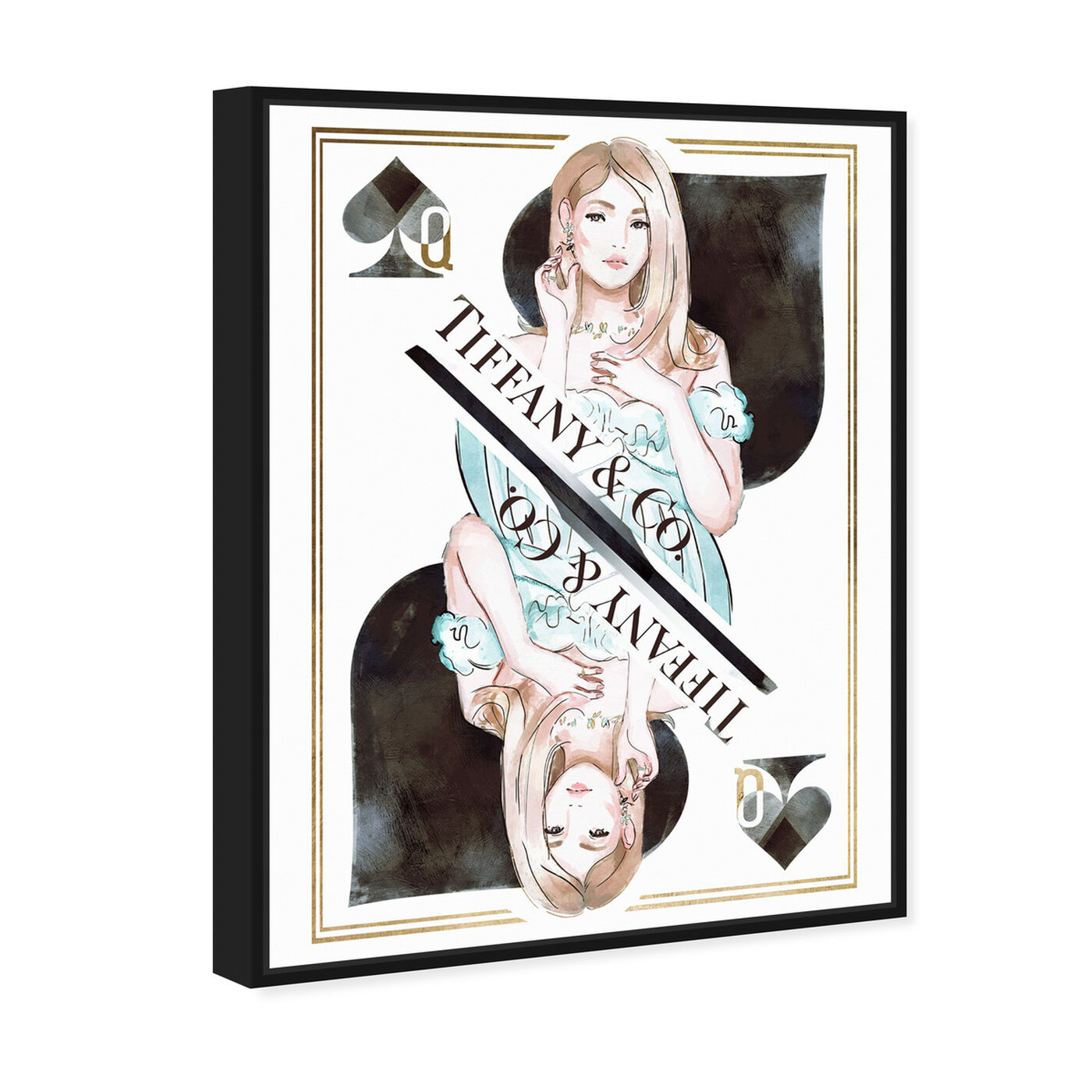 Angled view of Queen of Spades Precious featuring fashion and glam and outfits art.