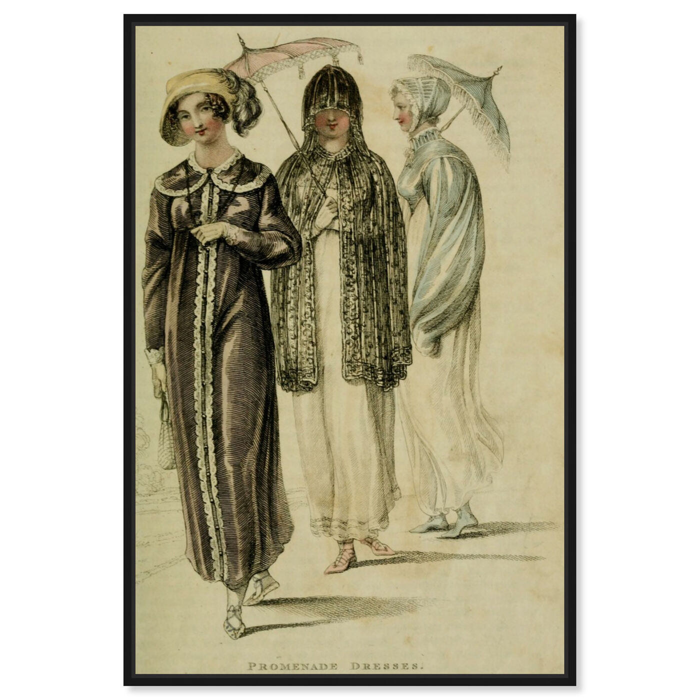 Front view of Promenade Dresses - The Art Cabinet featuring classic and figurative and realism art.