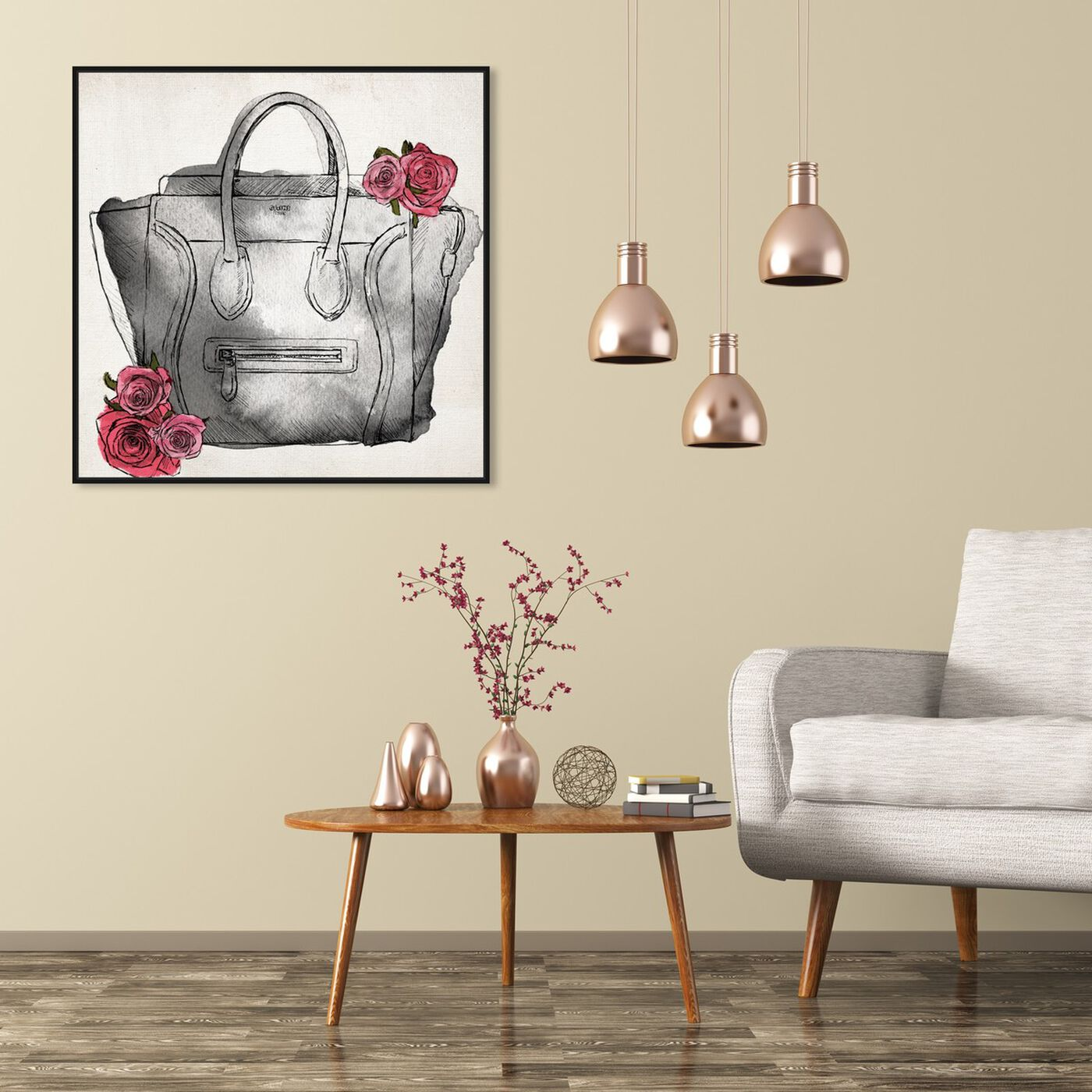 Hanging view of Spoil Me Please Classic featuring fashion and glam and handbags art.