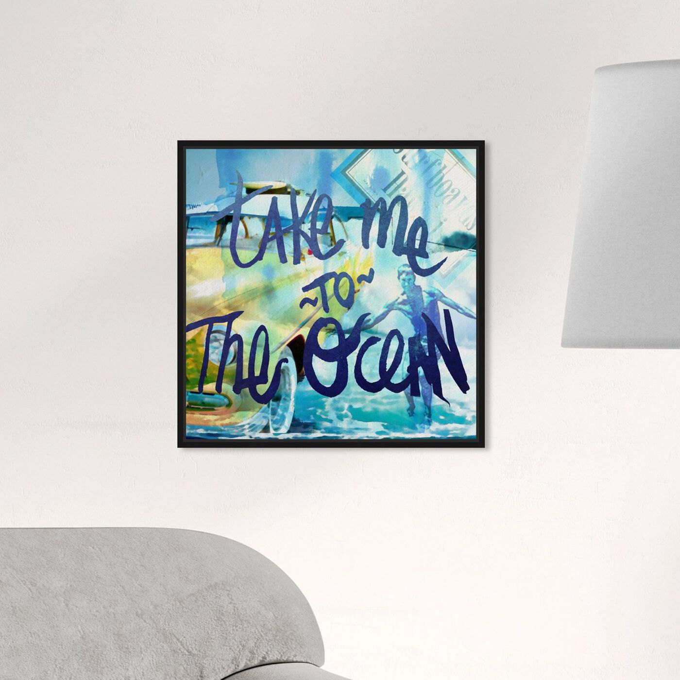 Hanging view of Take Me To The Ocean featuring typography and quotes and quotes and sayings art.