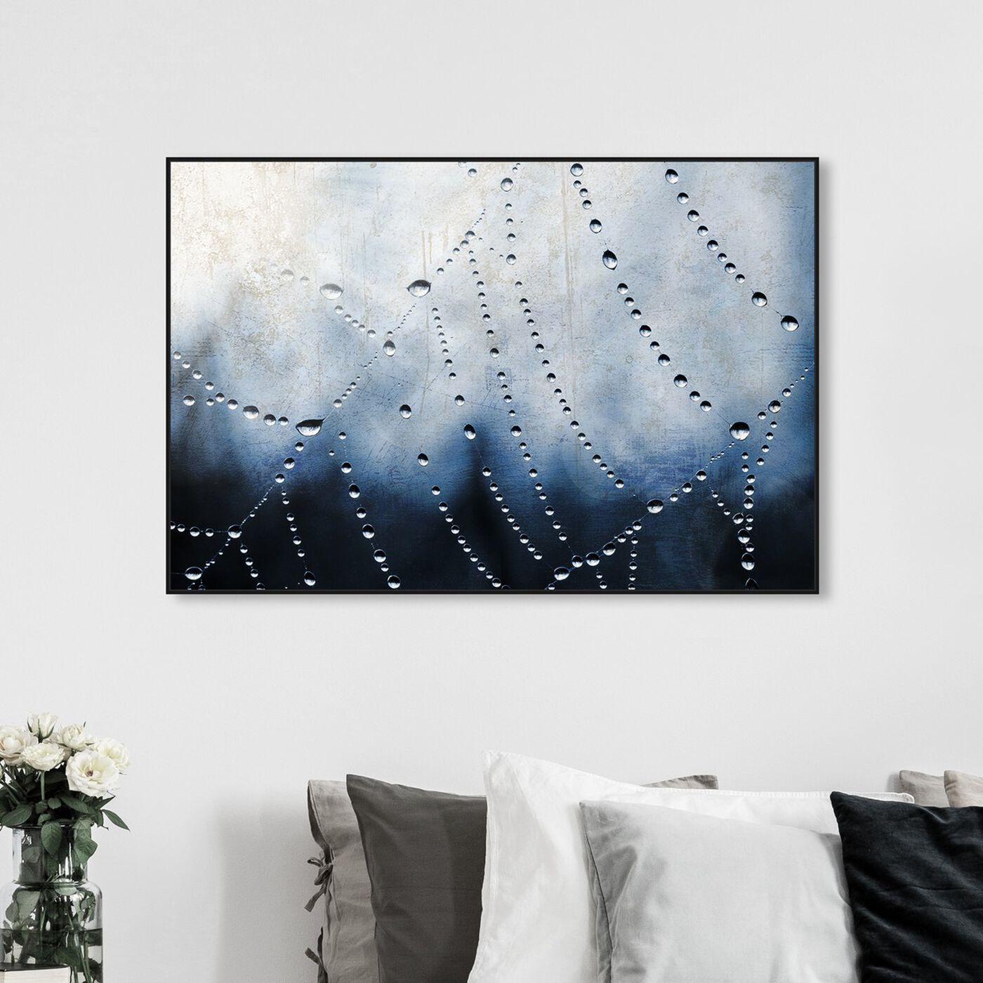 Hanging view of Waterweb featuring abstract and paint art.
