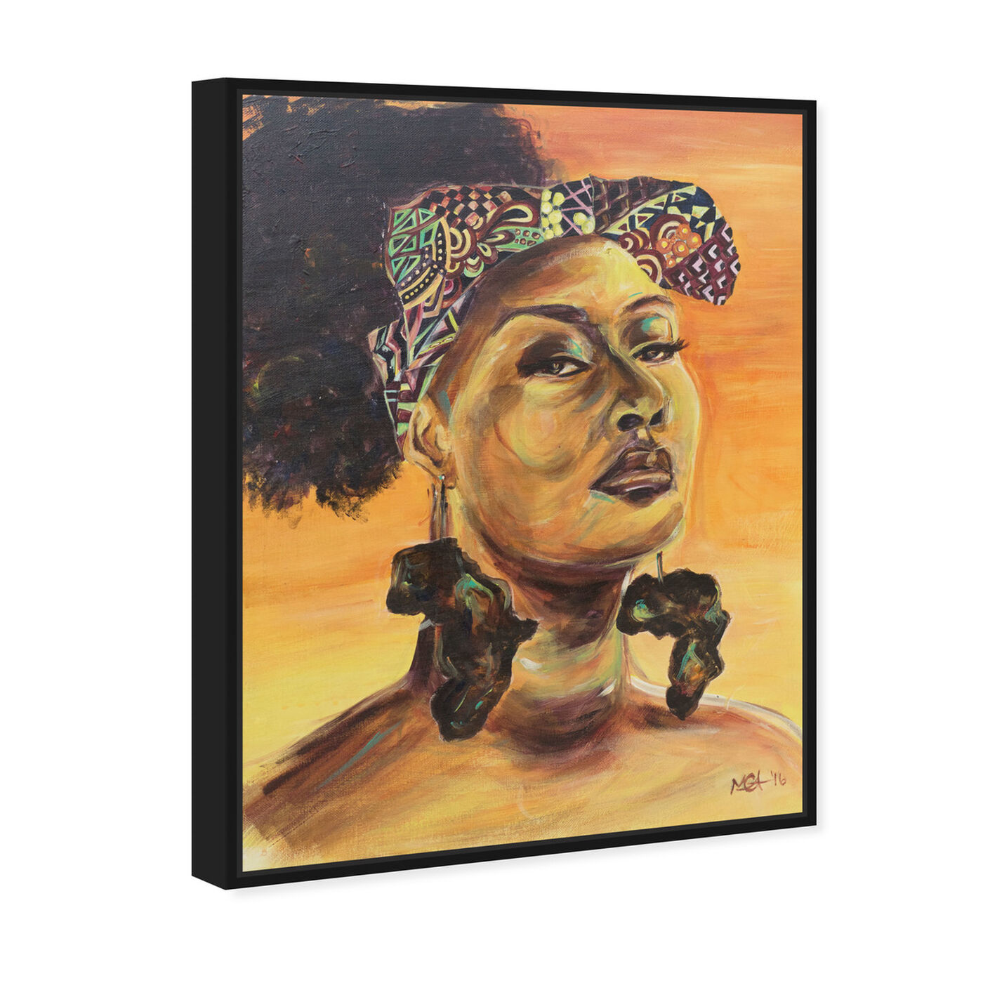 Angled view of Marissa Anderson - African Pride featuring people and portraits and portraits art.