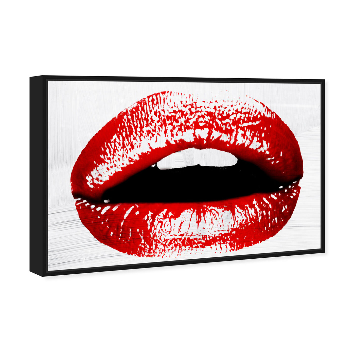 Angled view of Statement Lips featuring fashion and glam and lips art.