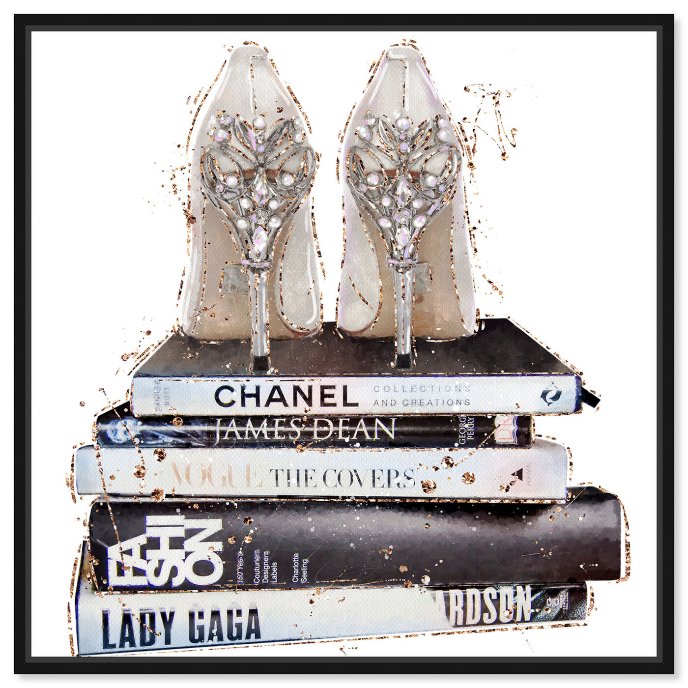 Front view of Favorite Shoes II featuring fashion and glam and shoes art.