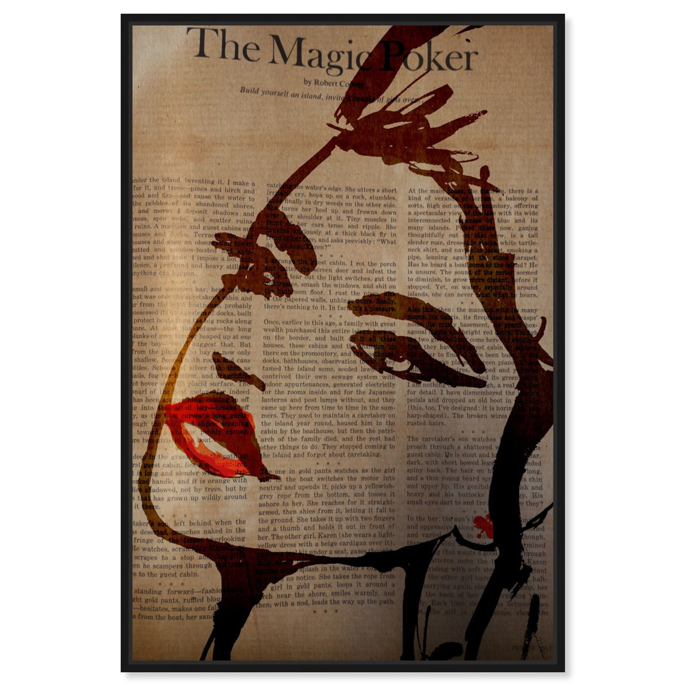 Front view of The Magic Poker featuring fashion and glam and portraits art.