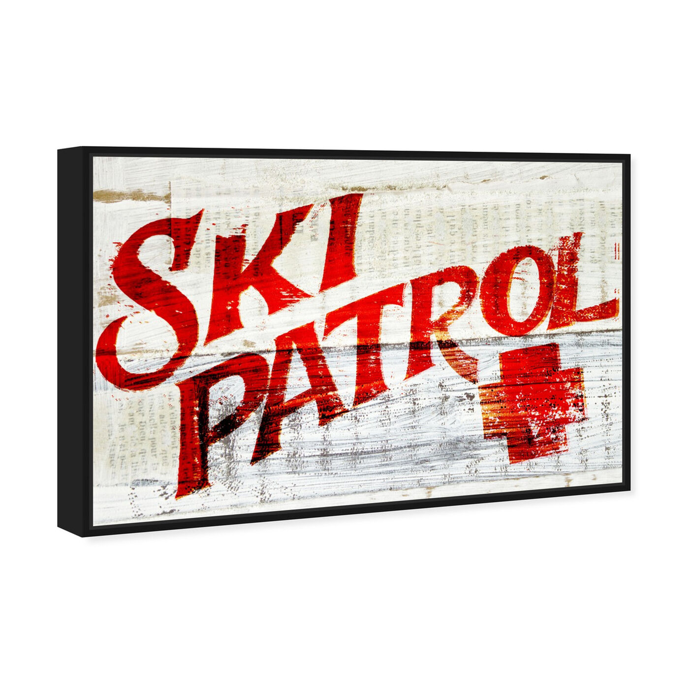 Angled view of Ski Patrol Vintage featuring advertising and posters art.