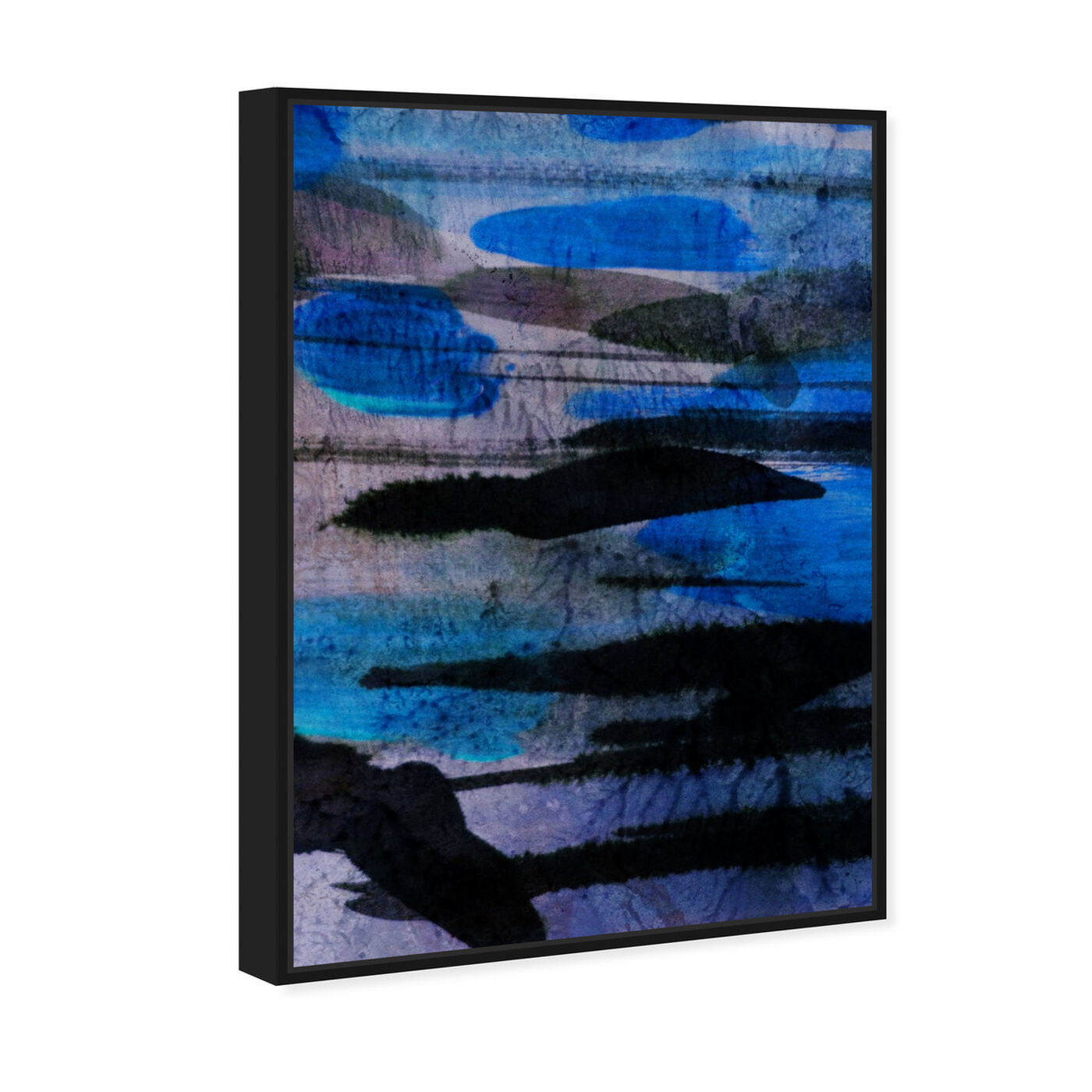 Angled view of Andes Blues featuring abstract and paint art.