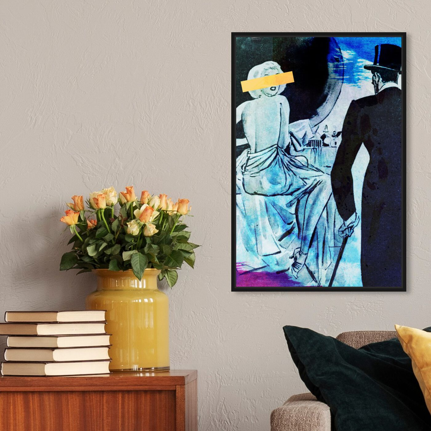 Hanging view of Moi featuring classic and figurative and modern classic art.
