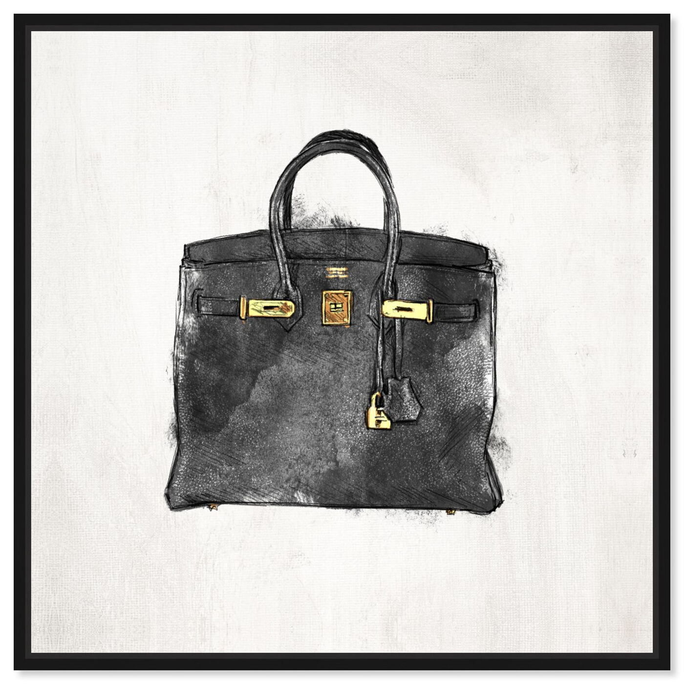 Front view of My Lucky Bag Black I featuring fashion and glam and handbags art.