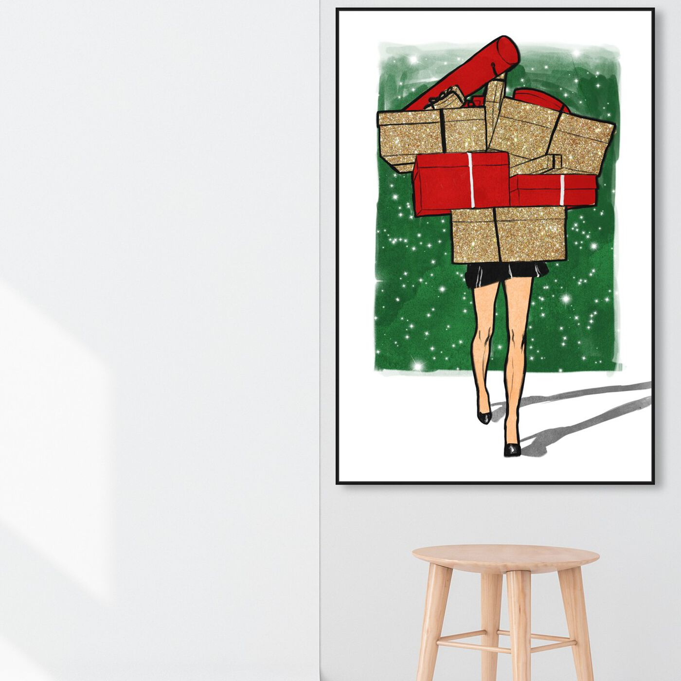 Hanging view of Holiday Gifts Overload featuring fashion and glam and dress art.