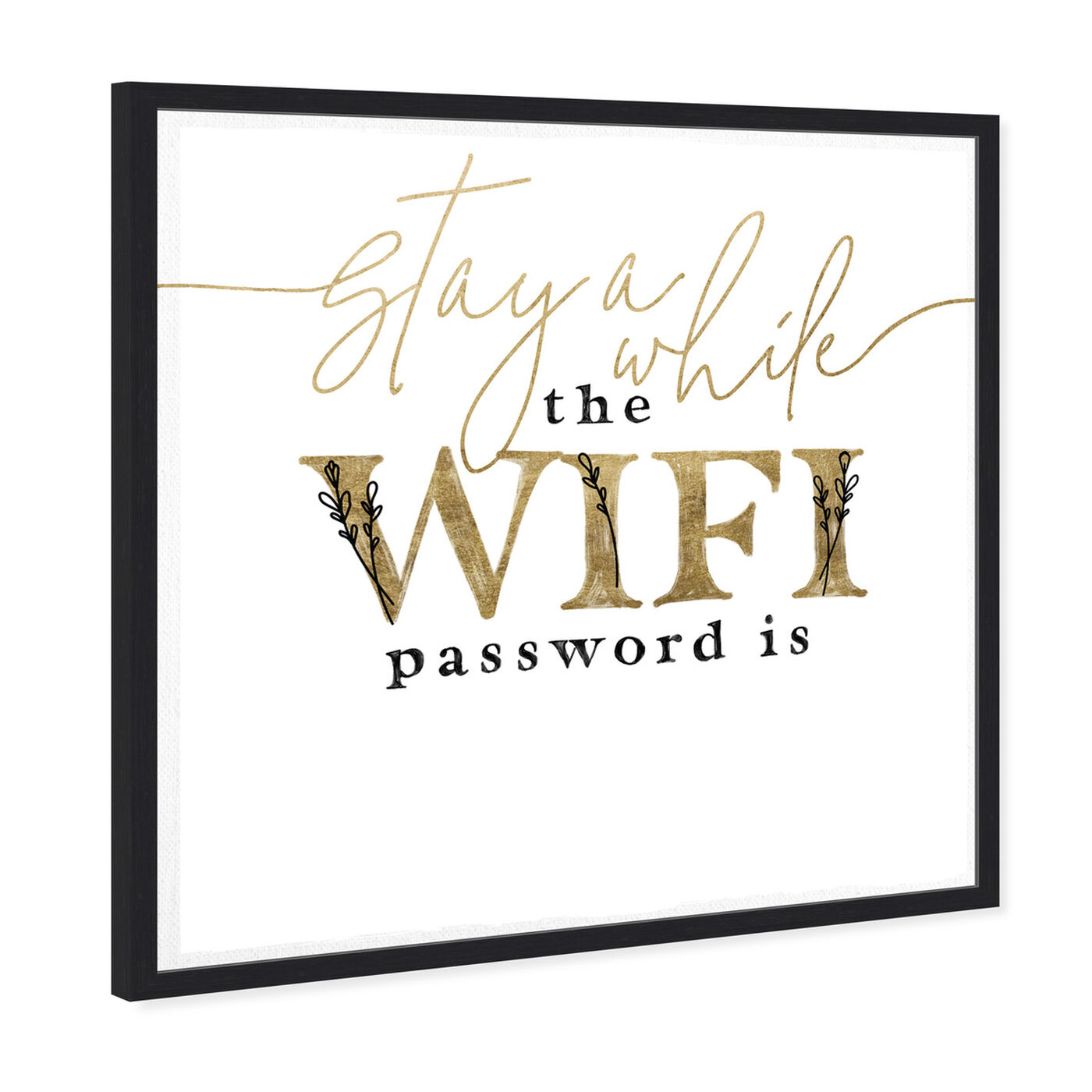 Angled view of Wifi Password Simple Casual art.