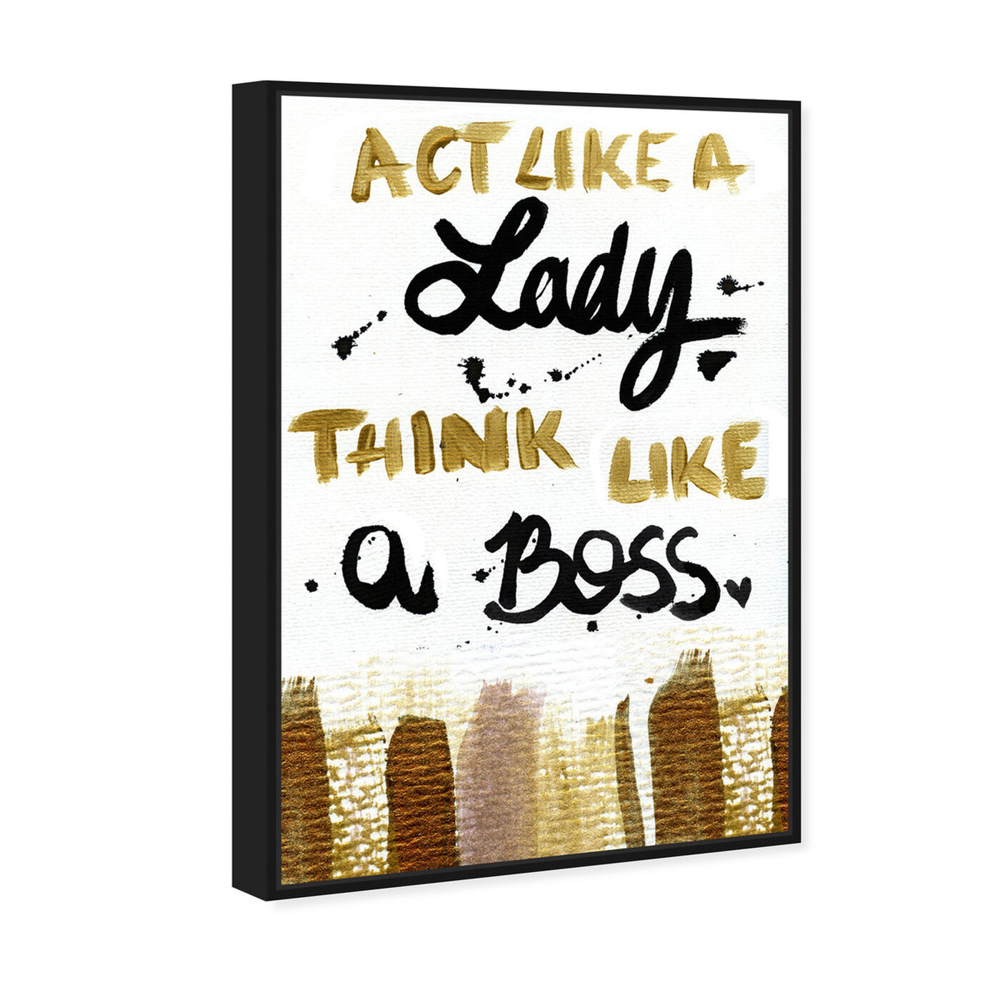 Angled view of Boss Lady  featuring typography and quotes and empowered women quotes and sayings art.