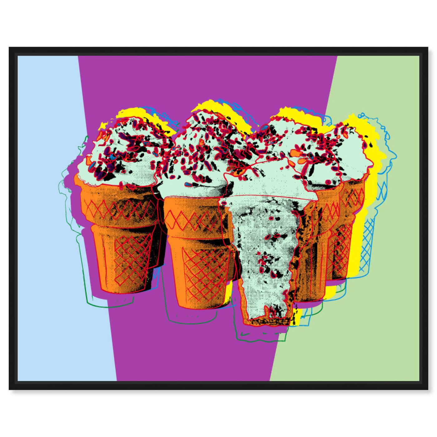 Front view of Classic Ice Cream featuring food and cuisine and ice cream and milkshakes art.