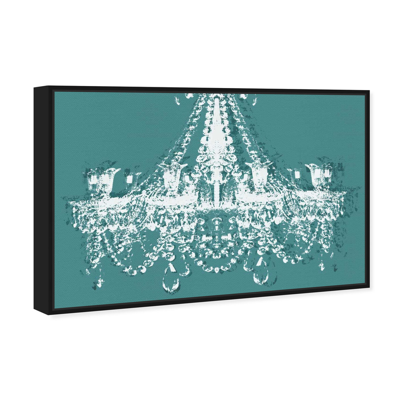Angled view of Dramatic Entrance Sarcelle featuring fashion and glam and chandeliers art.