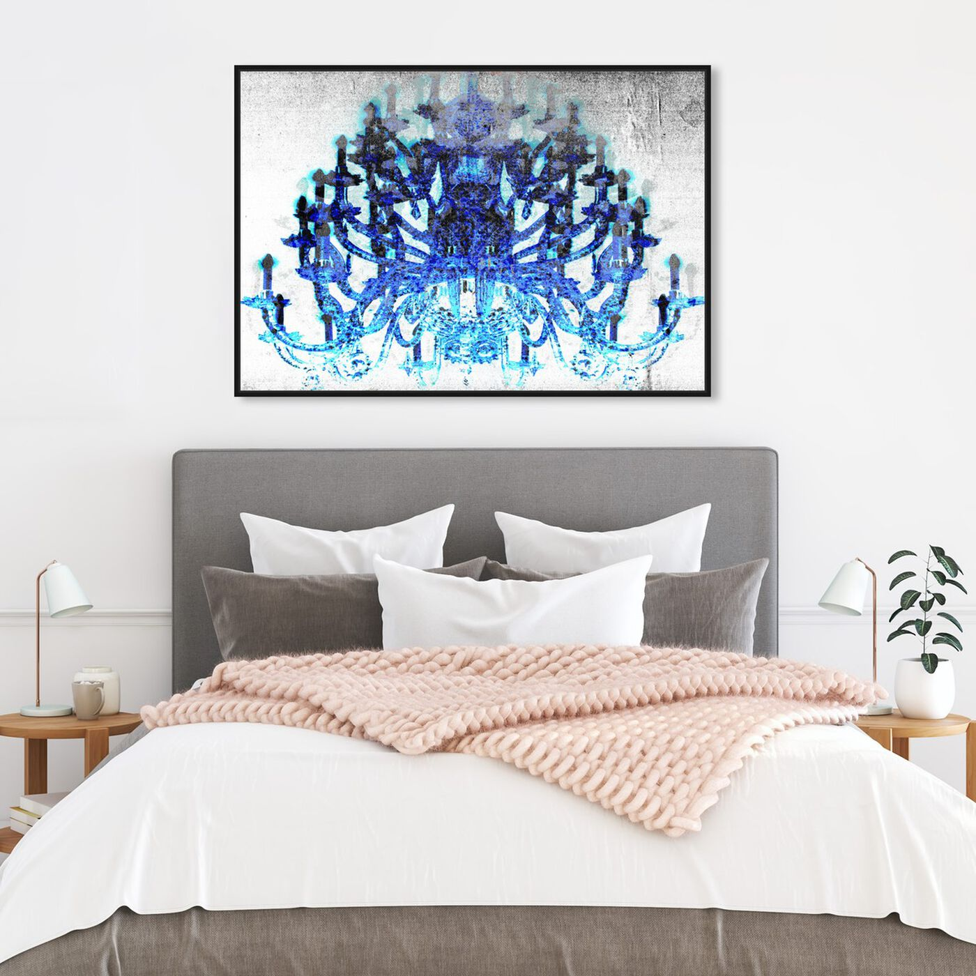 Hanging view of Land of the Living featuring fashion and glam and chandeliers art.