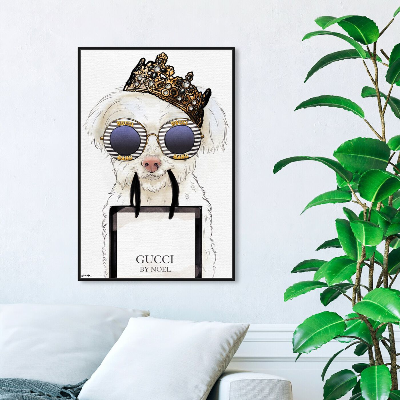 Hanging view of Crowned Regal featuring fashion and glam and accessories art.