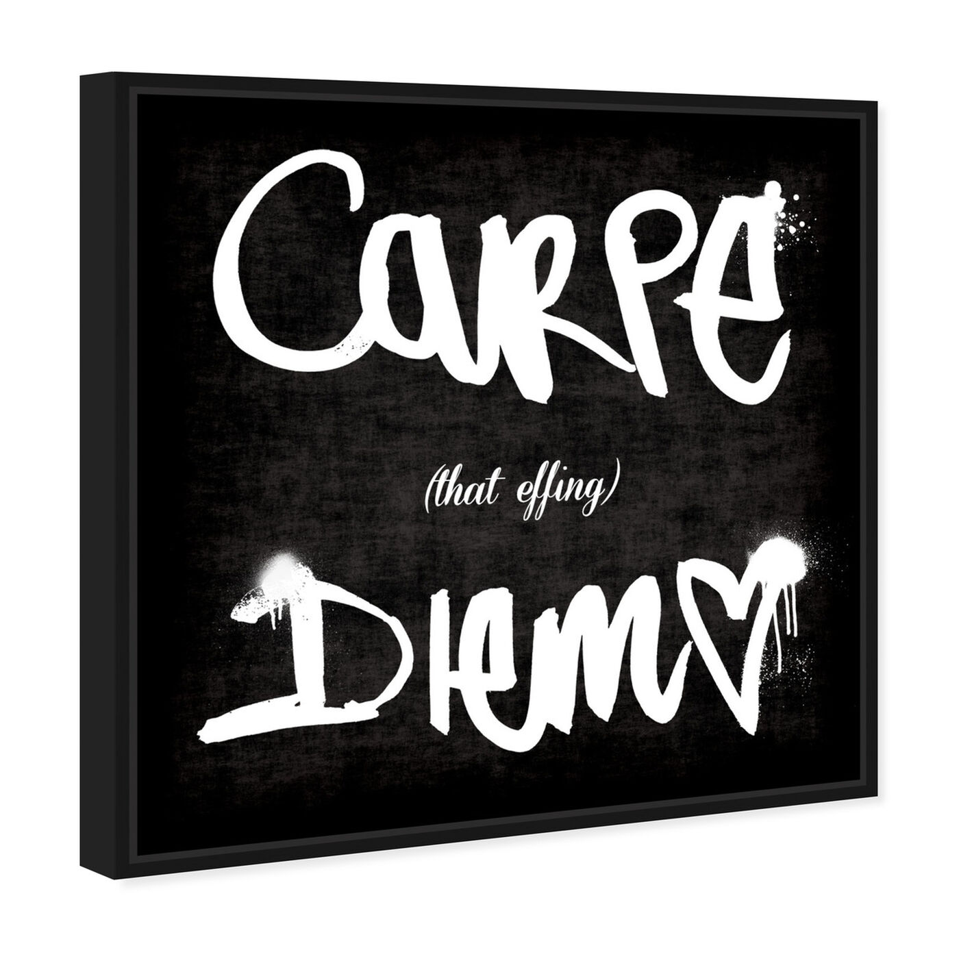 Angled view of Carpe That Effing Diem featuring typography and quotes and quotes and sayings art.