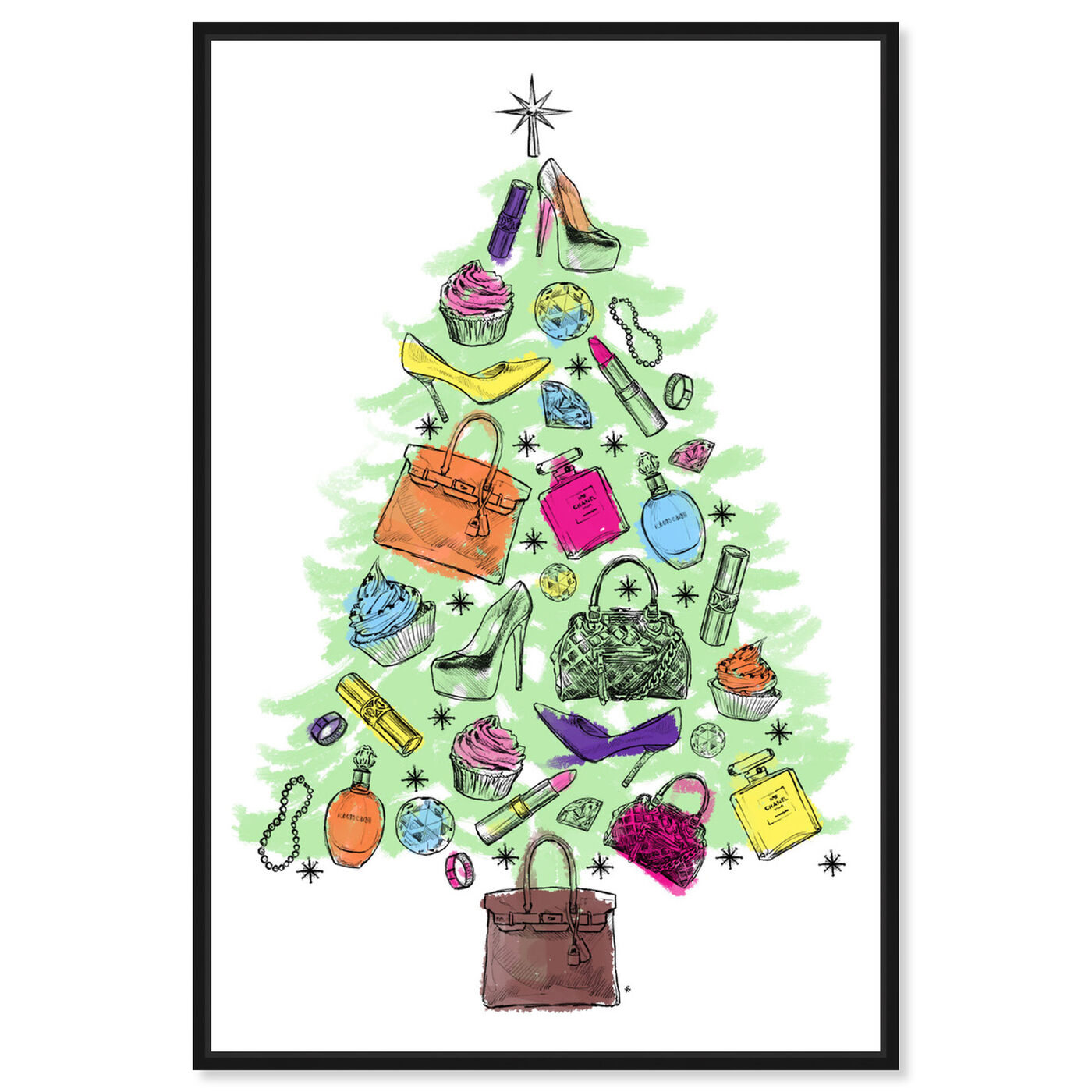 Front view of Fashion Tree featuring holiday and seasonal and holidays art.