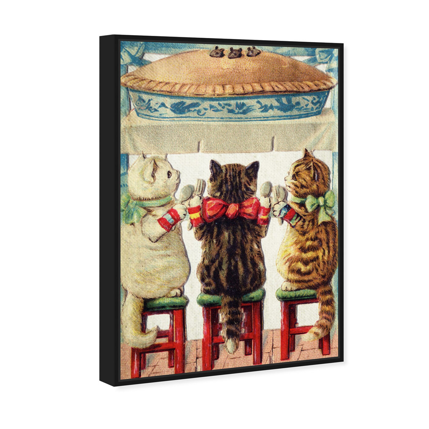 Angled view of Pie Time featuring animals and cats and kitties art.