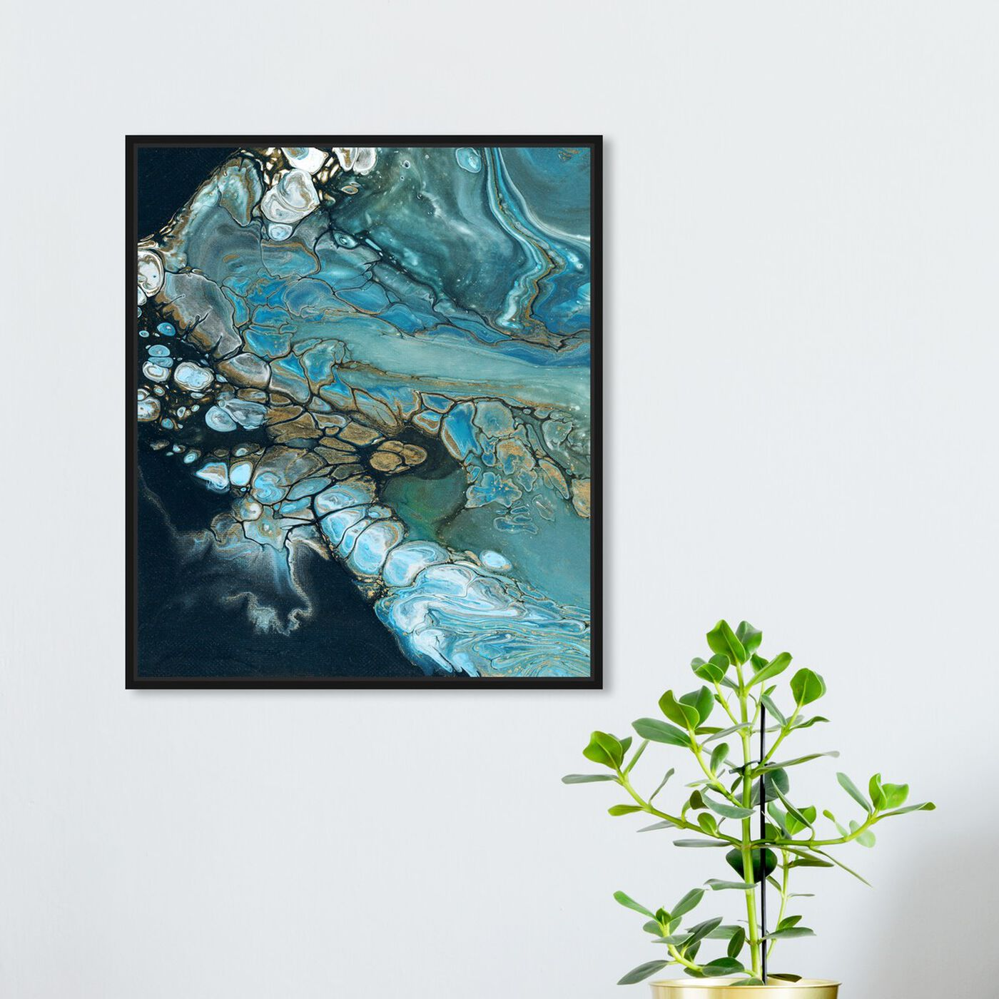 Hanging view of Inlet featuring abstract and crystals art.