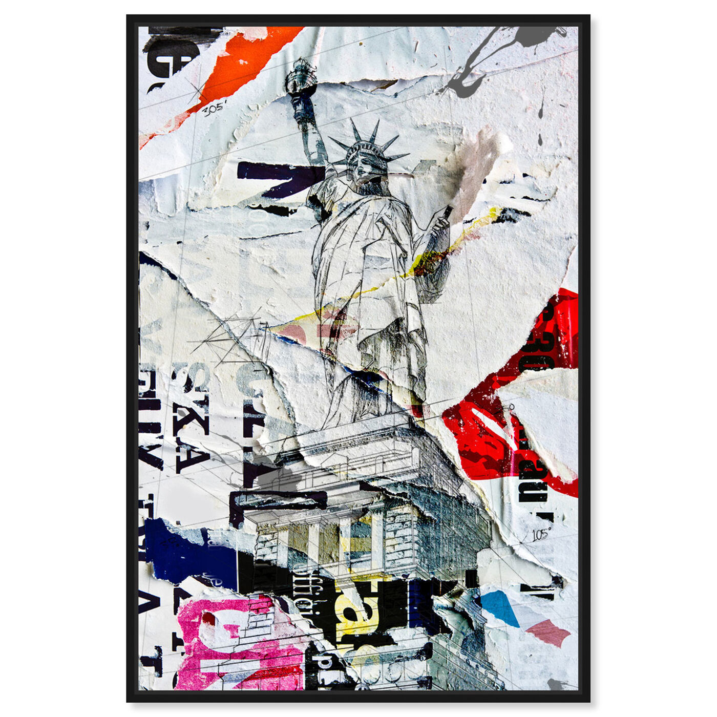 Front view of Liberty featuring architecture and buildings and united states buildings art.
