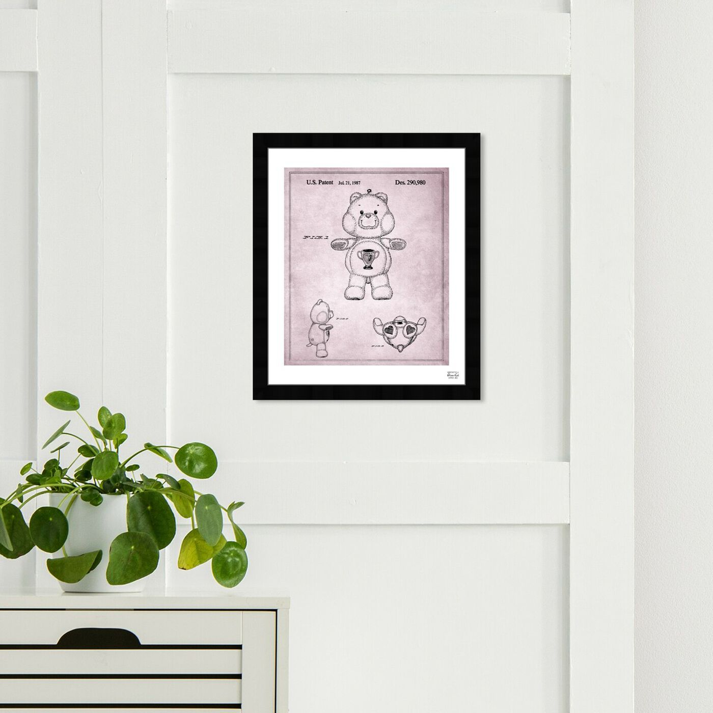 Hanging view of Carebears - Champ Bear 1987 featuring symbols and objects and toys art.