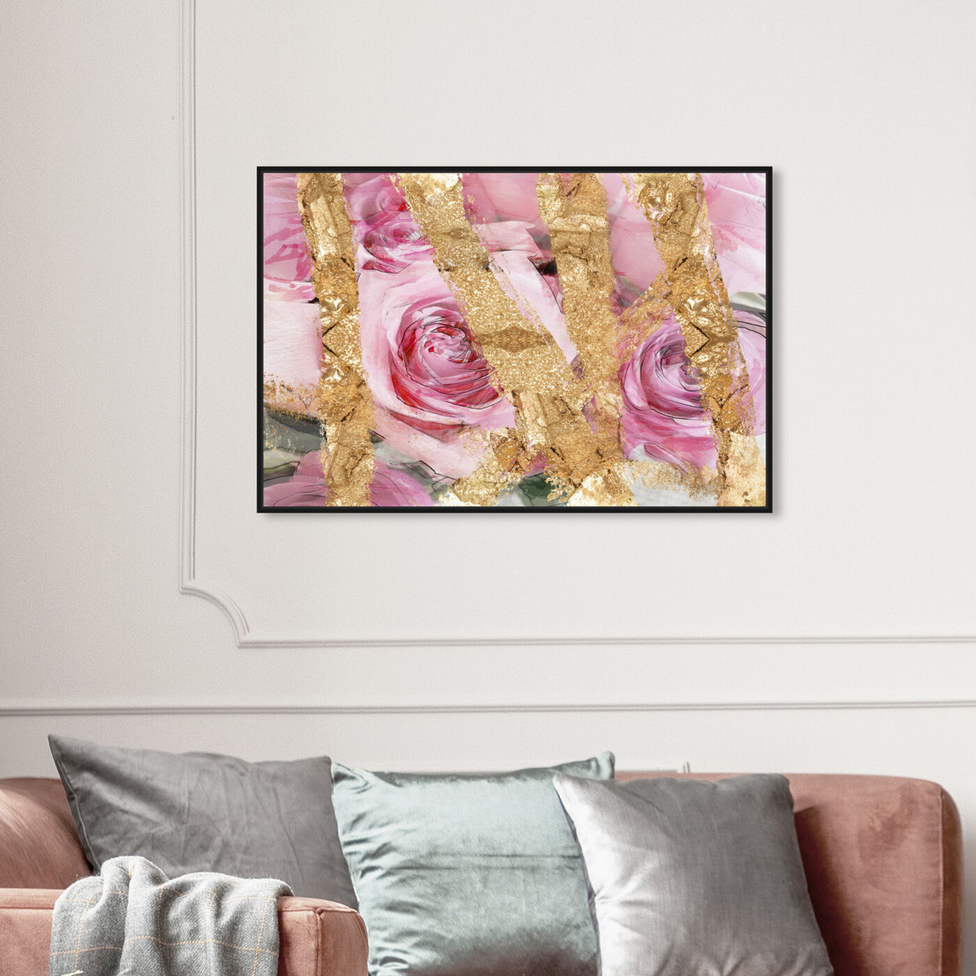 Hanging view of Rose Garden featuring floral and botanical and florals art.