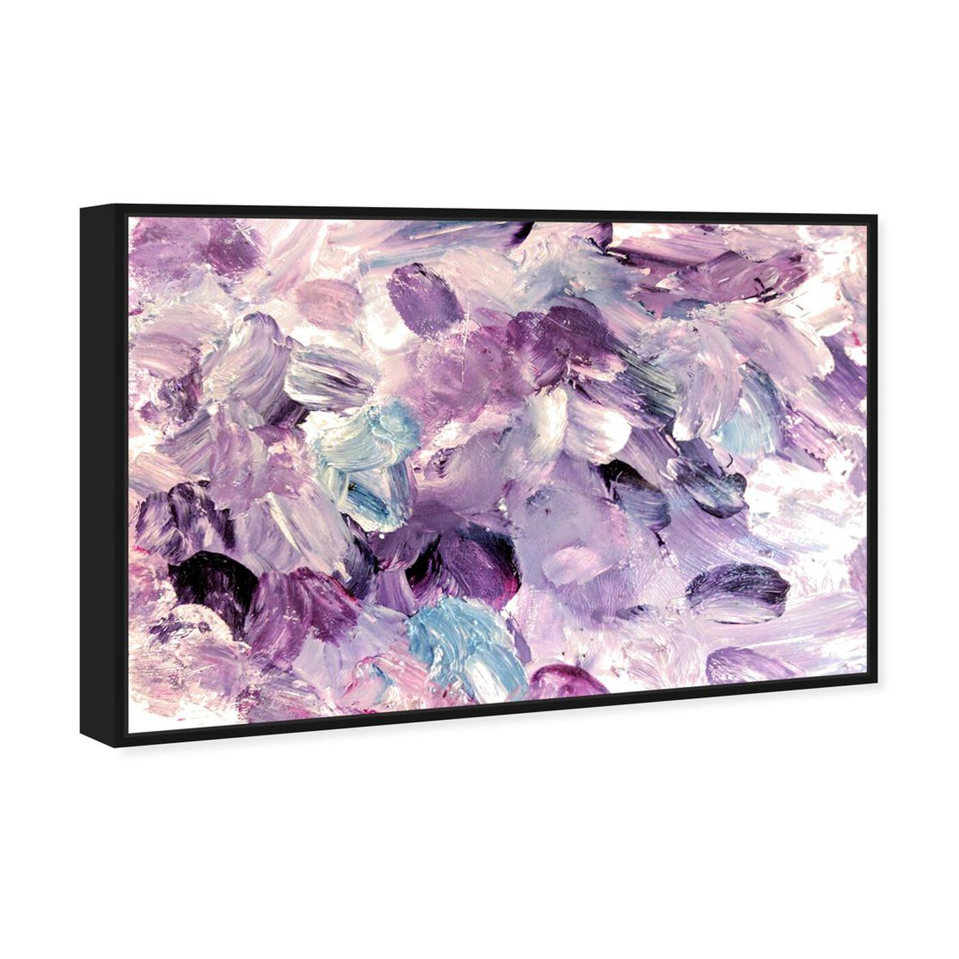 Angled view of Amethyst Gardens featuring abstract and paint art.