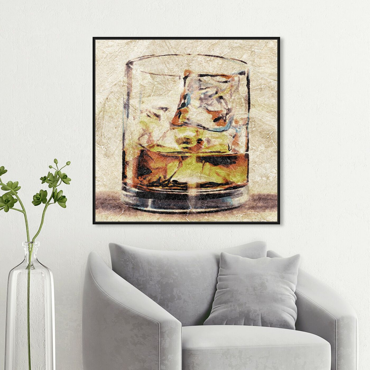 Hanging view of Scotch Glass featuring drinks and spirits and liquor art.