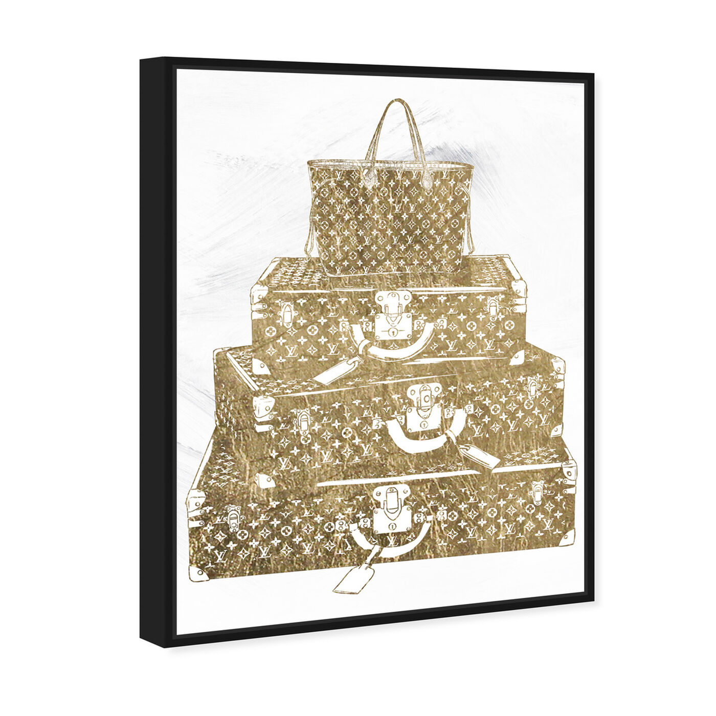 Angled view of Traveling the Globe featuring fashion and glam and travel essentials art.