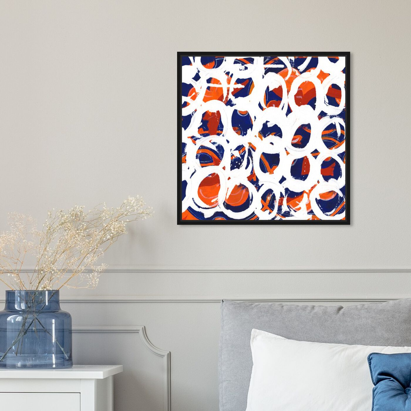 Hanging view of Waltz featuring abstract and geometric art.