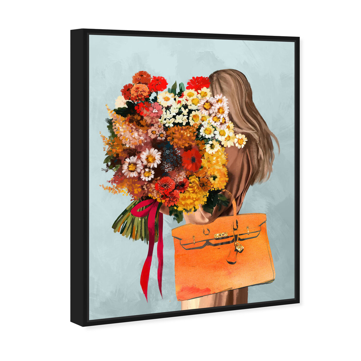 Angled view of Autumn Bouquet featuring fashion and glam and handbags art.