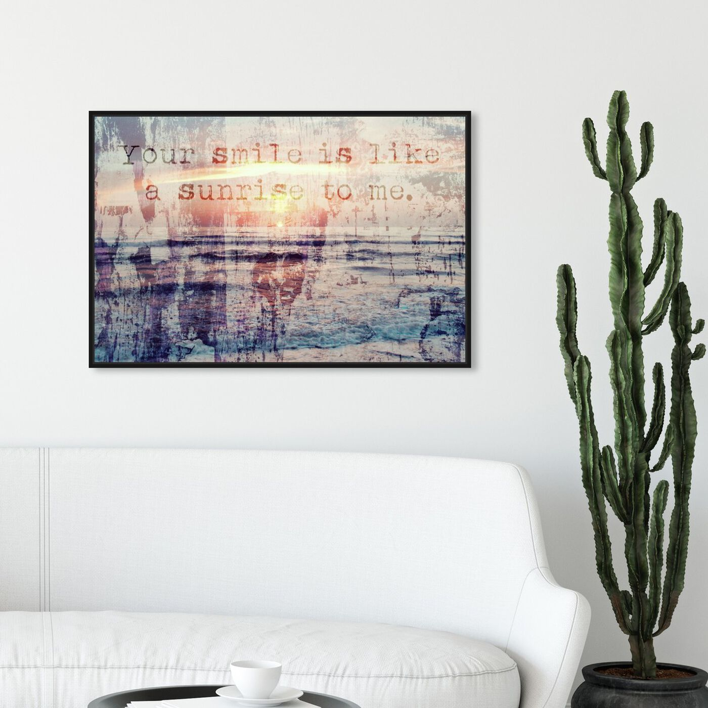 Hanging view of Your Smile featuring typography and quotes and love quotes and sayings art.