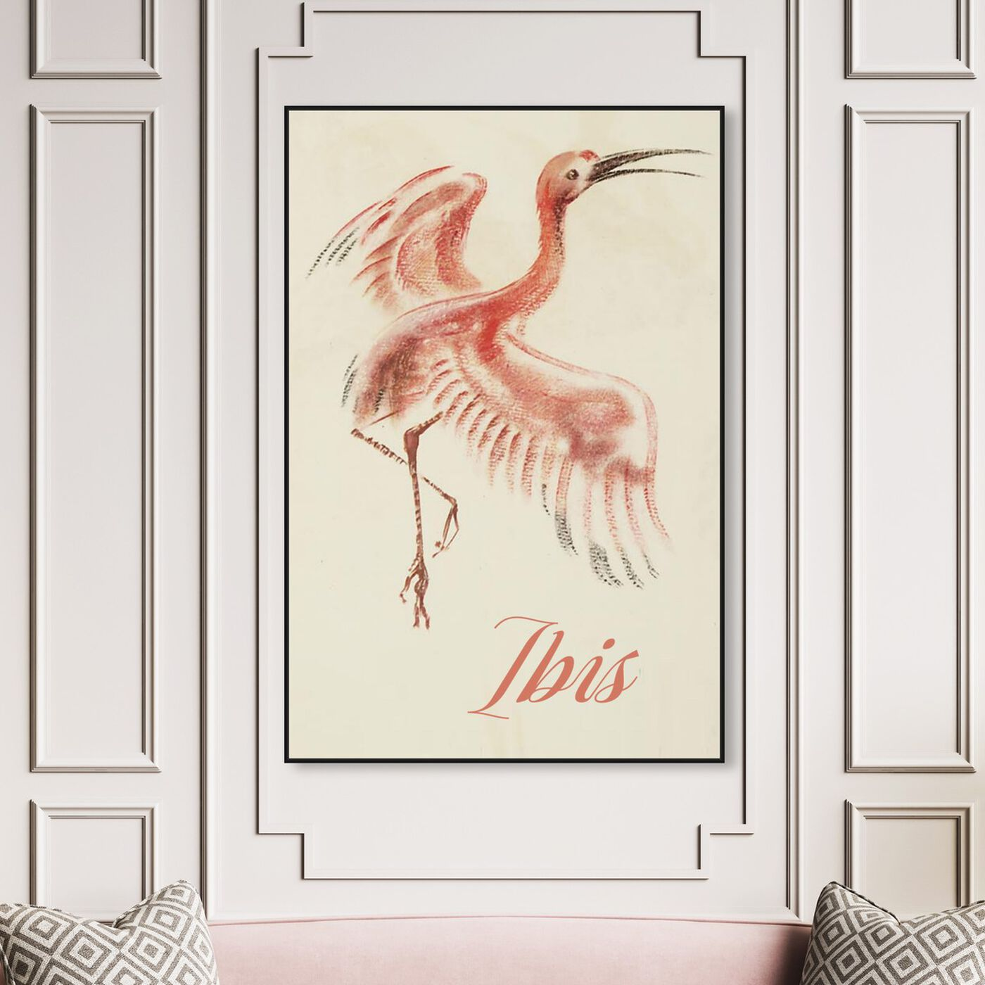 Hanging view of Ibis featuring animals and birds art.