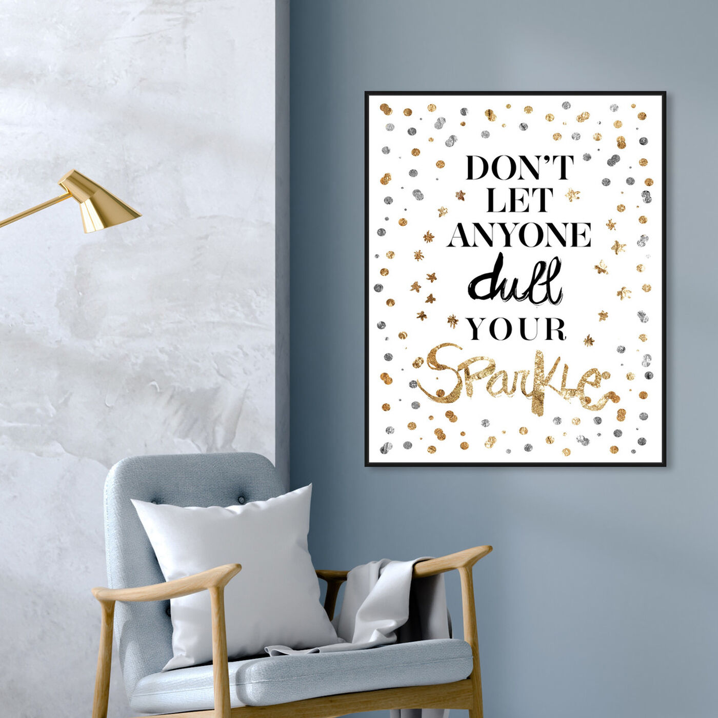 Hanging view of Always Shine Confetti I featuring typography and quotes and inspirational quotes and sayings art.