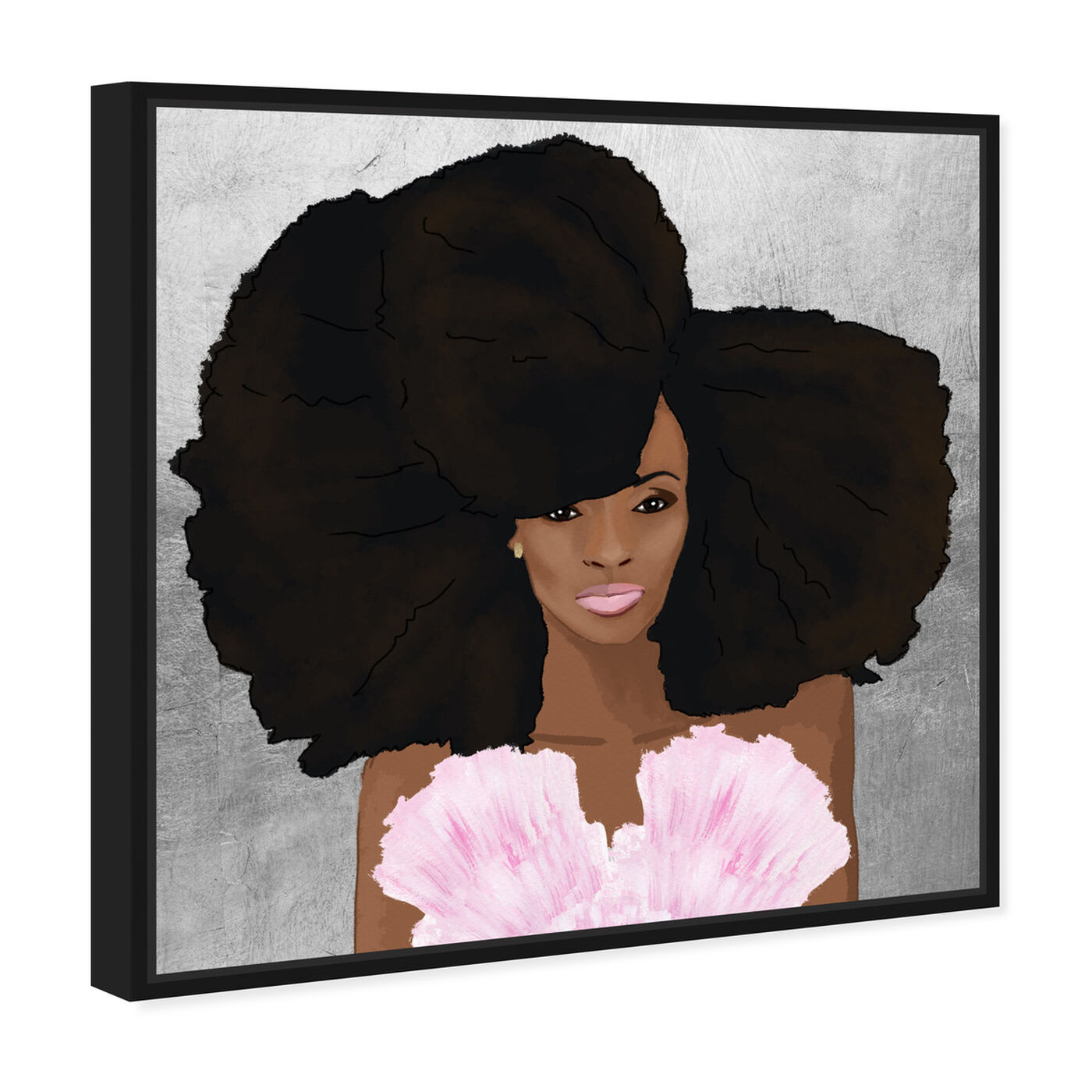 Angled view of Hair and Makeup featuring fashion and glam and portraits art.