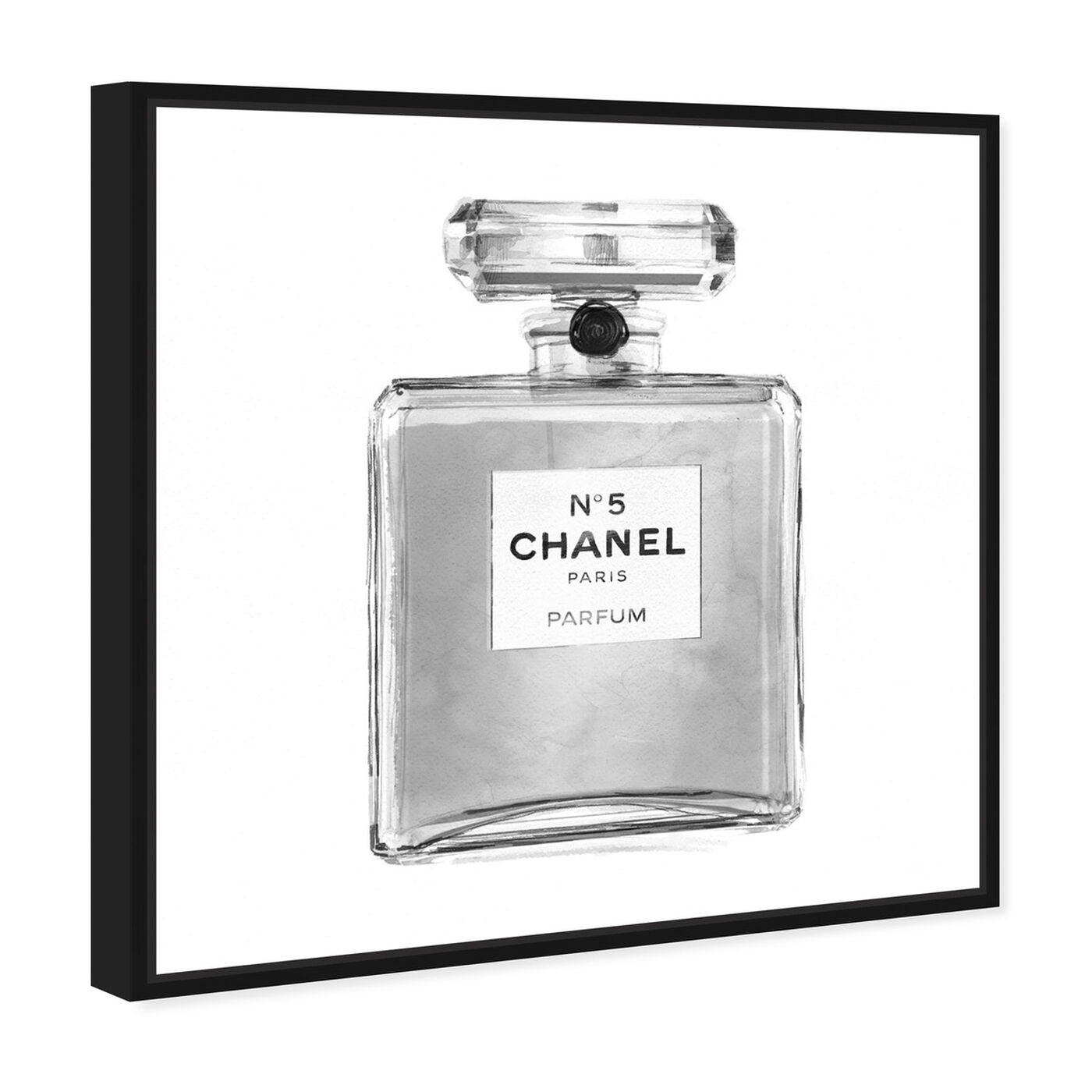 Angled view of Silver Classic Perfume featuring fashion and glam and perfumes art.