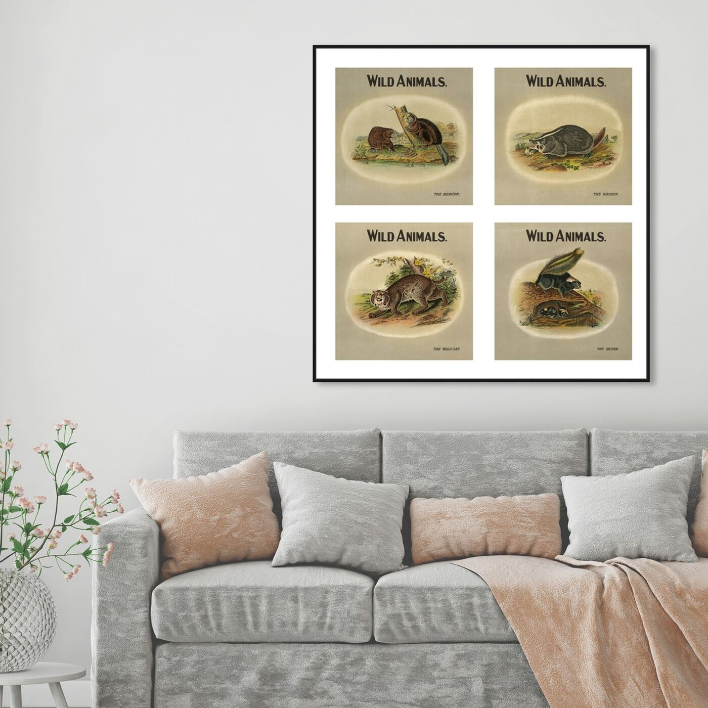 Hanging view of American Fauna featuring animals and zoo and wild animals art.