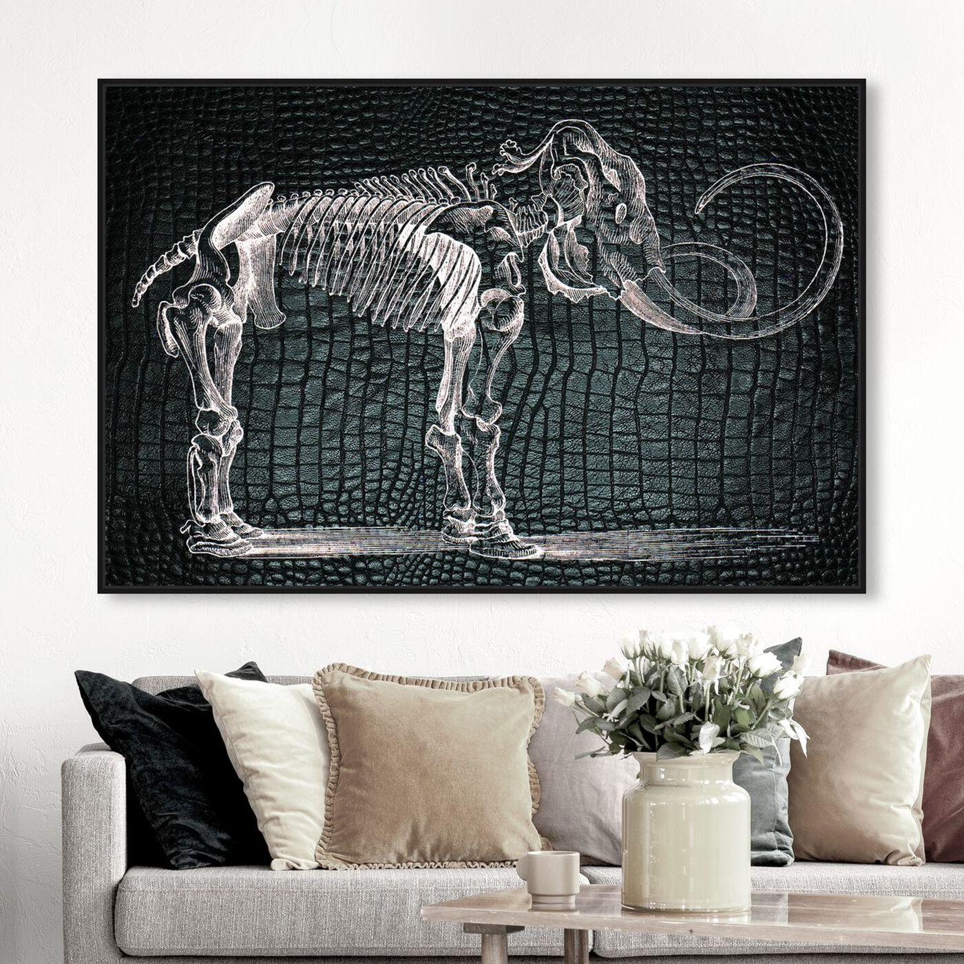 Hanging view of Mammoth featuring animals and dinosaurs art.