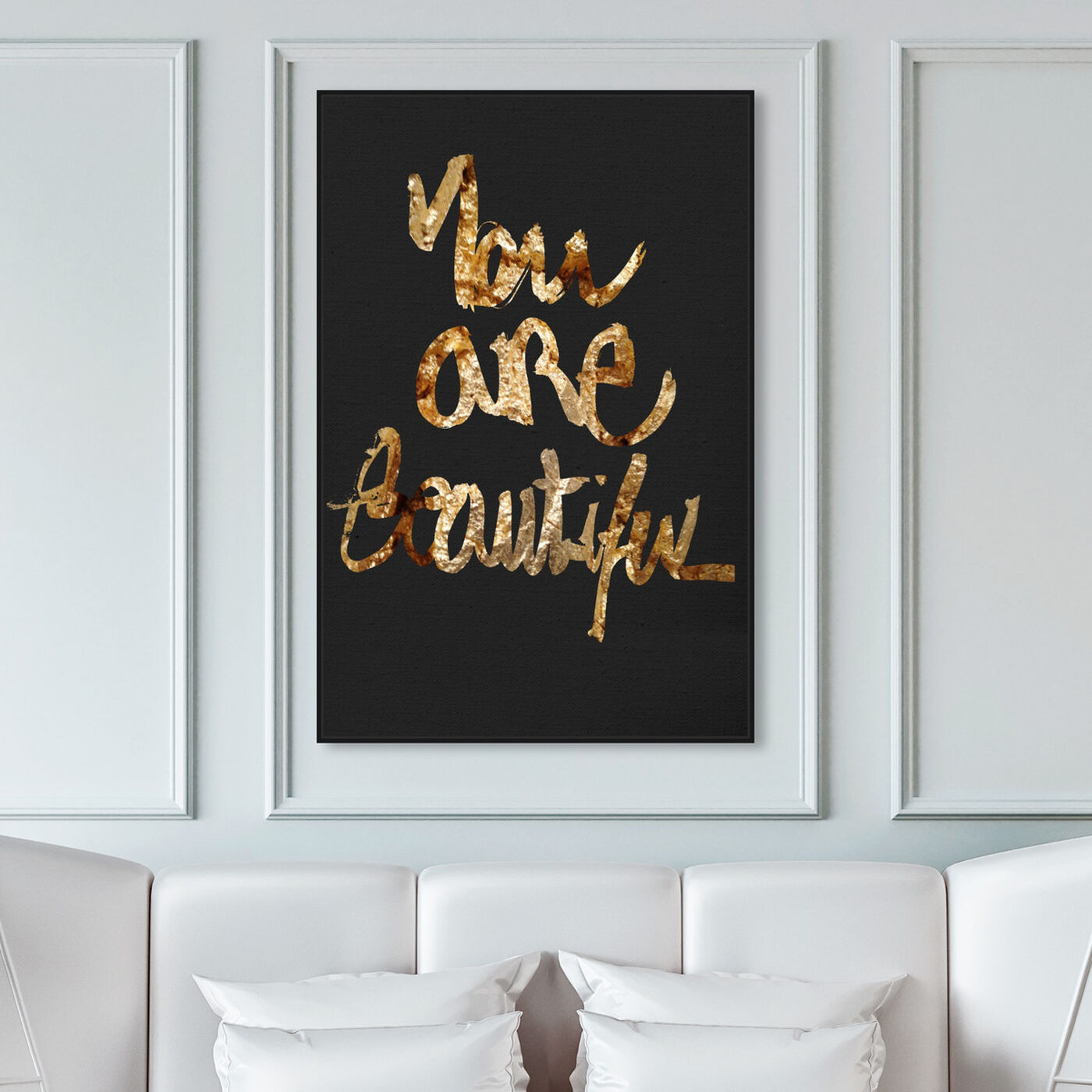 Hanging view of You Really Are Gold featuring typography and quotes and beauty quotes and sayings art.