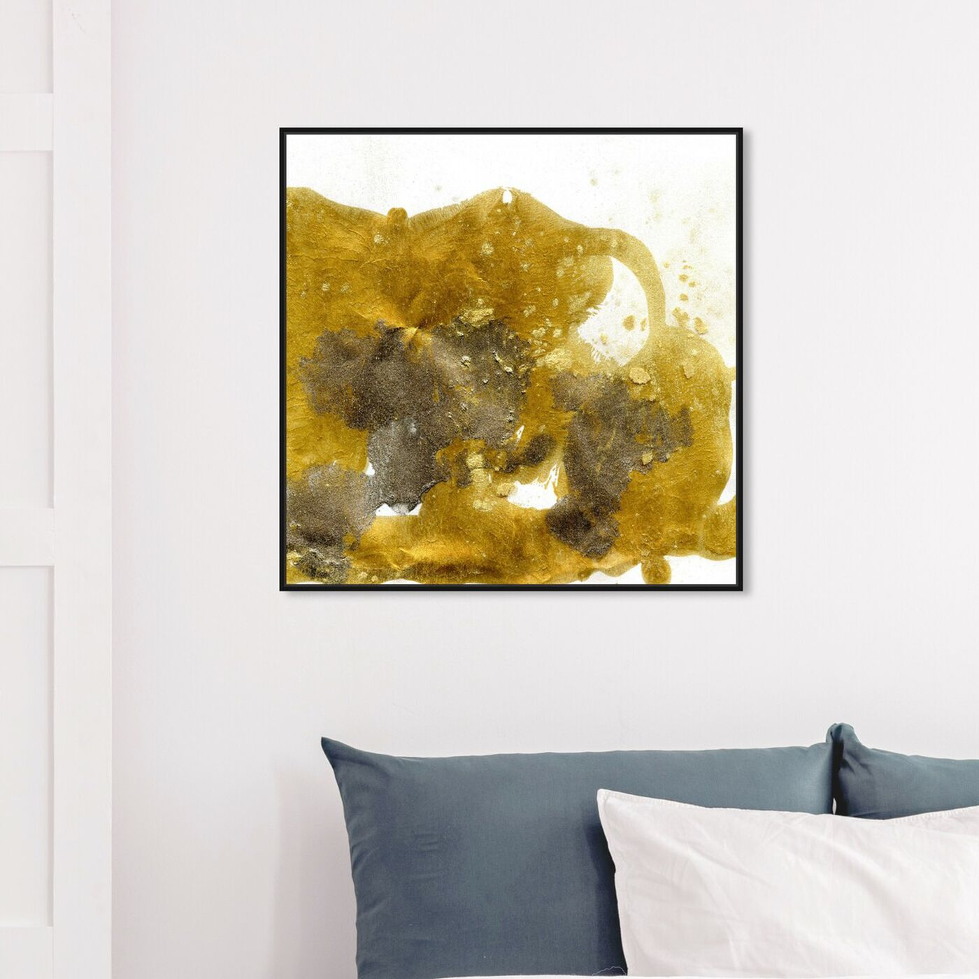 Hanging view of Gold Dust - Signature Collection featuring abstract and textures art.