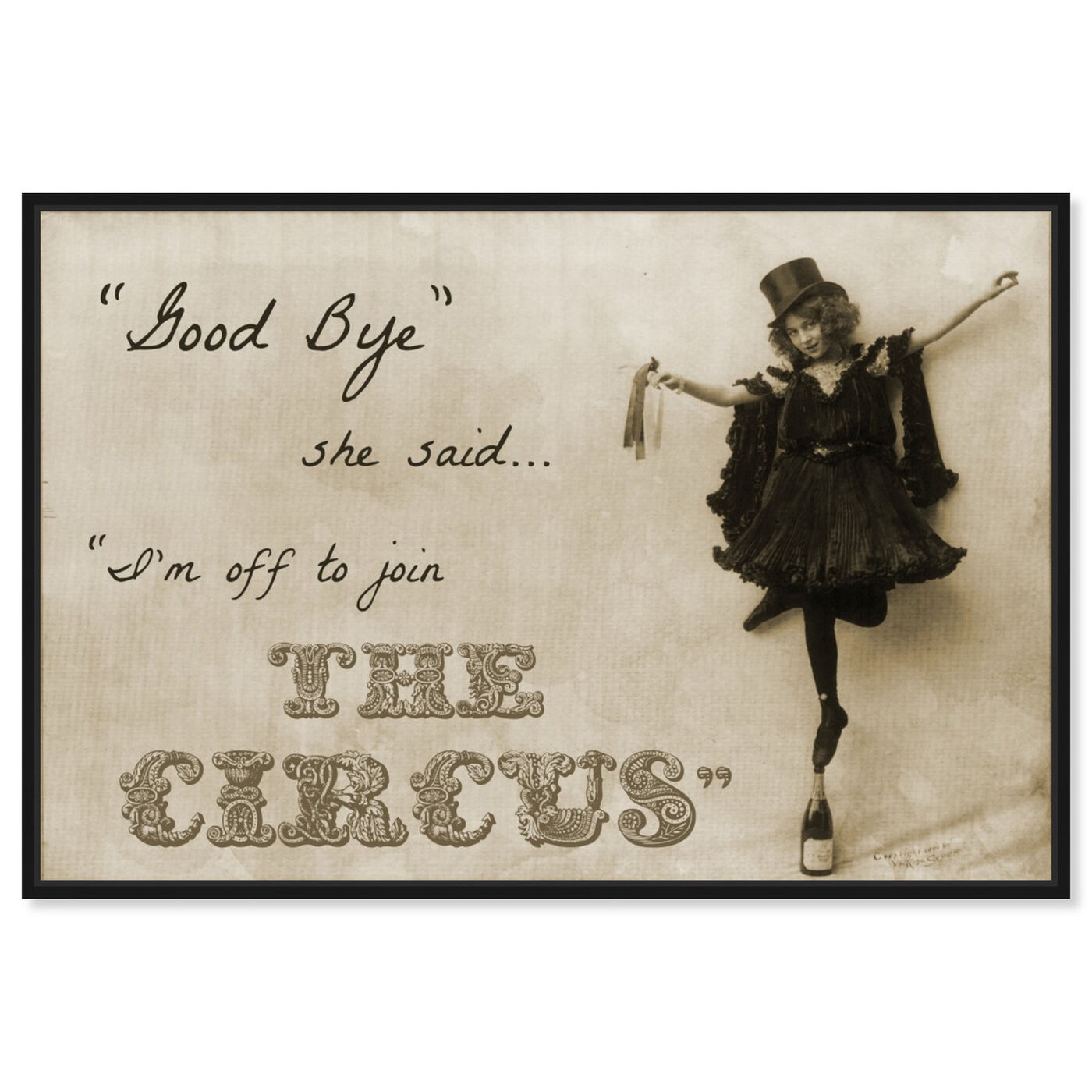 Front view of Join the Circus featuring typography and quotes and quotes and sayings art.