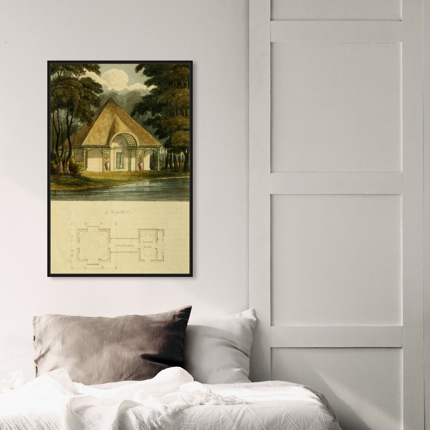 Hanging view of Dairy - The Art Cabinet featuring classic and figurative and classic art.