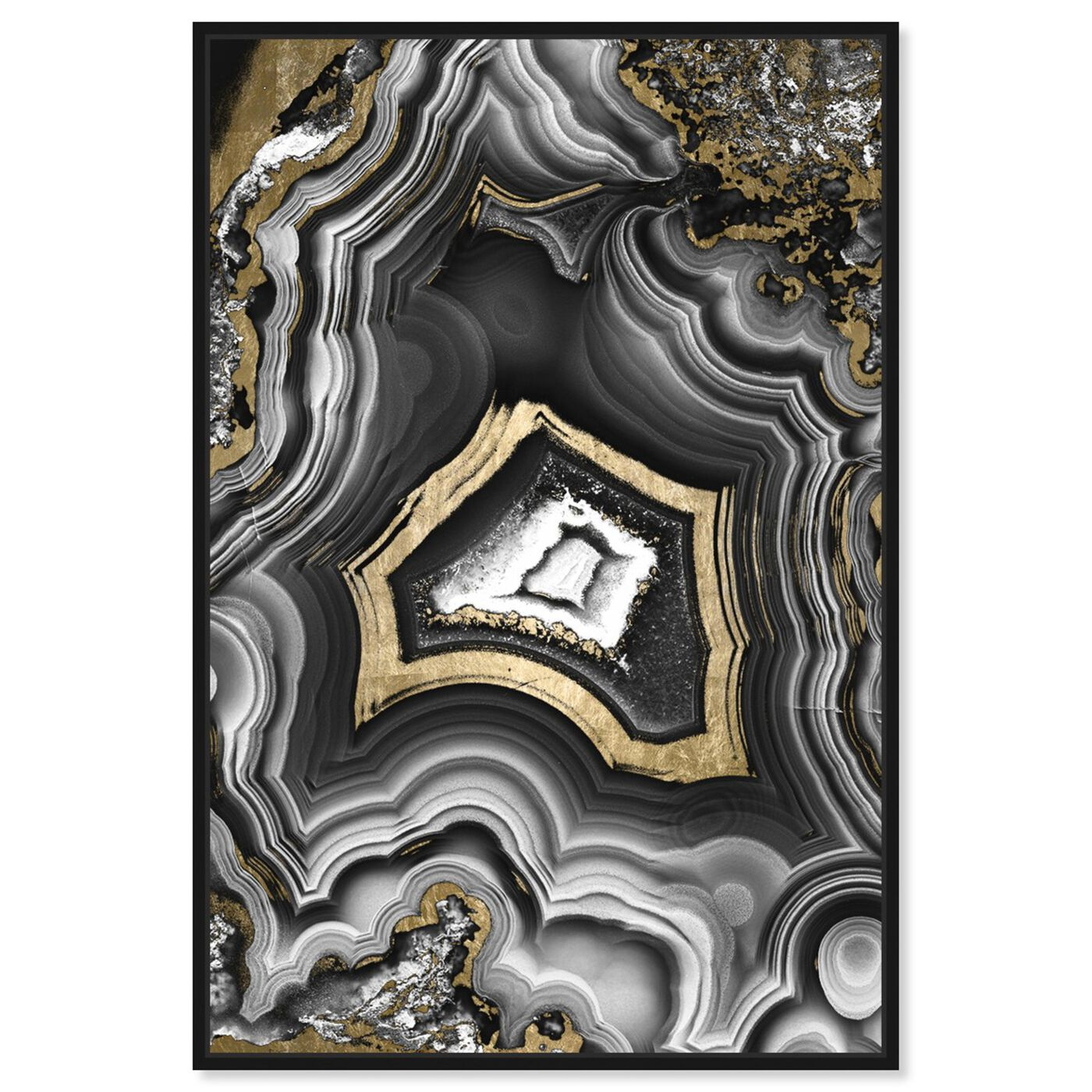 Front view of AdoreGeo featuring abstract and crystals art.